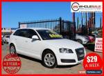 2009 Audi A3 8P Attraction Sportback 5dr S tronic 7sp 1.6i [MY09] White A for Sale